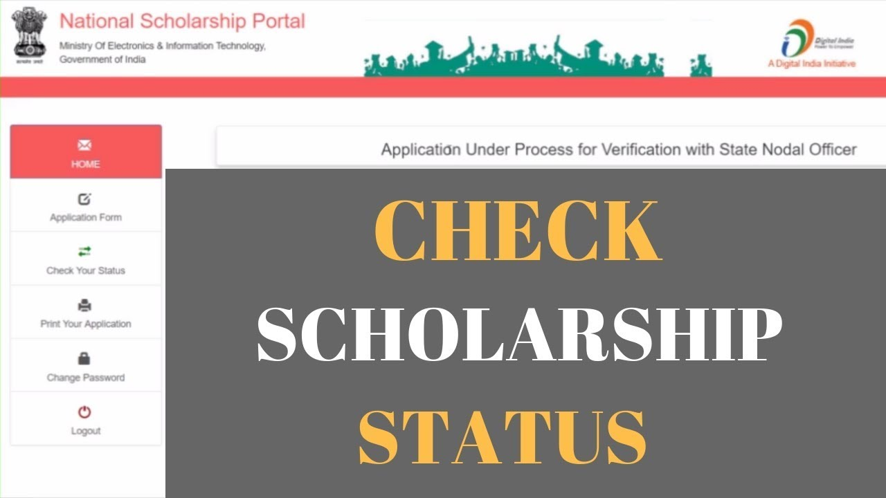 How To Check NSP Form Status 2018 19 | Check National Scholarship  Application Status | AsifTechTalk