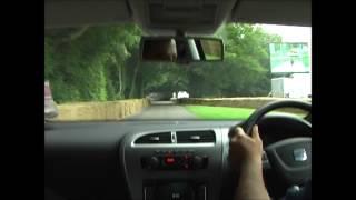 Seat Leon Cupra Test Drive at Goodwood 2012