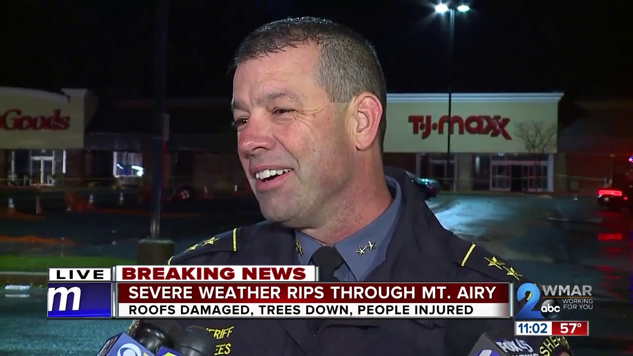Gushing winds cause building collapse at TJ Maxx store in Mount Airy