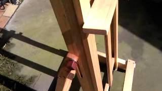 Studio H Frame Artists Easel On Castors Model Hbh1800