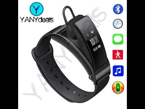 SmartWatch Bracelet Wristband & Removable Bluetooth Headset Smart Fitness Tracker