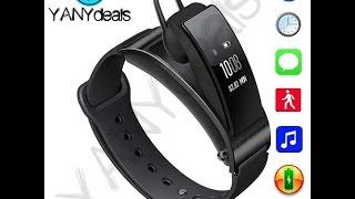 SmartWatch Bracelet Wristband & Removable Bluetooth Headset Smart Fitness Tracker