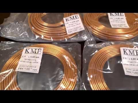 Медные трубы для водопровода, отопления 6,35 и 9,52 мм Sanco KME (Санко КМЕ Германия)