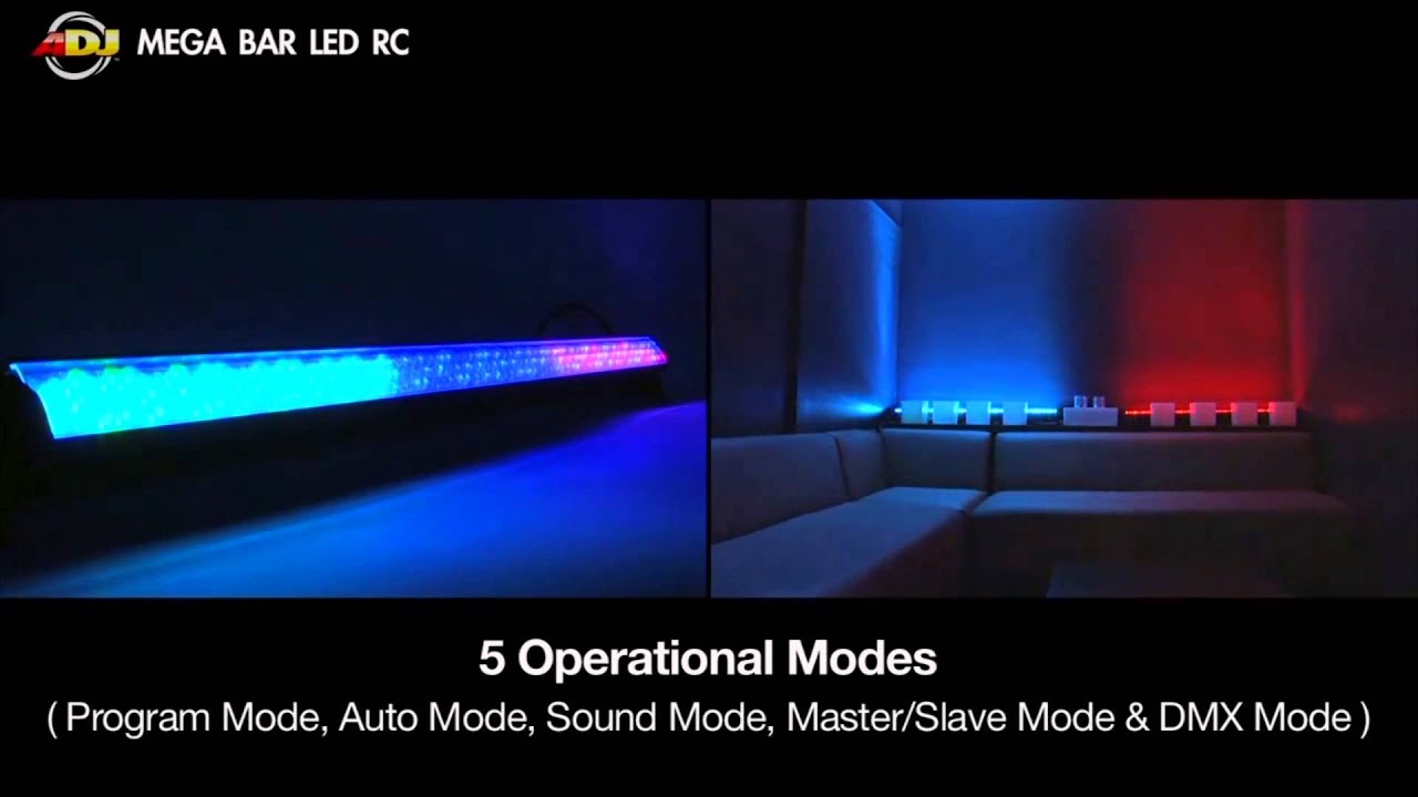 American DJ Mega Bar LED RC 40-inch High Powered LED Lighting Bar Overview | Full Compass  sc 1 st  YouTube & American DJ Mega Bar LED RC 40-inch High Powered LED Lighting Bar ... azcodes.com