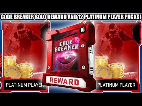 12 PLATINUM QUICKSELL PLAYER PACKS AND CODE BREAKER REWARD PACK! | MADDEN 19 ULTIMATE TEAM