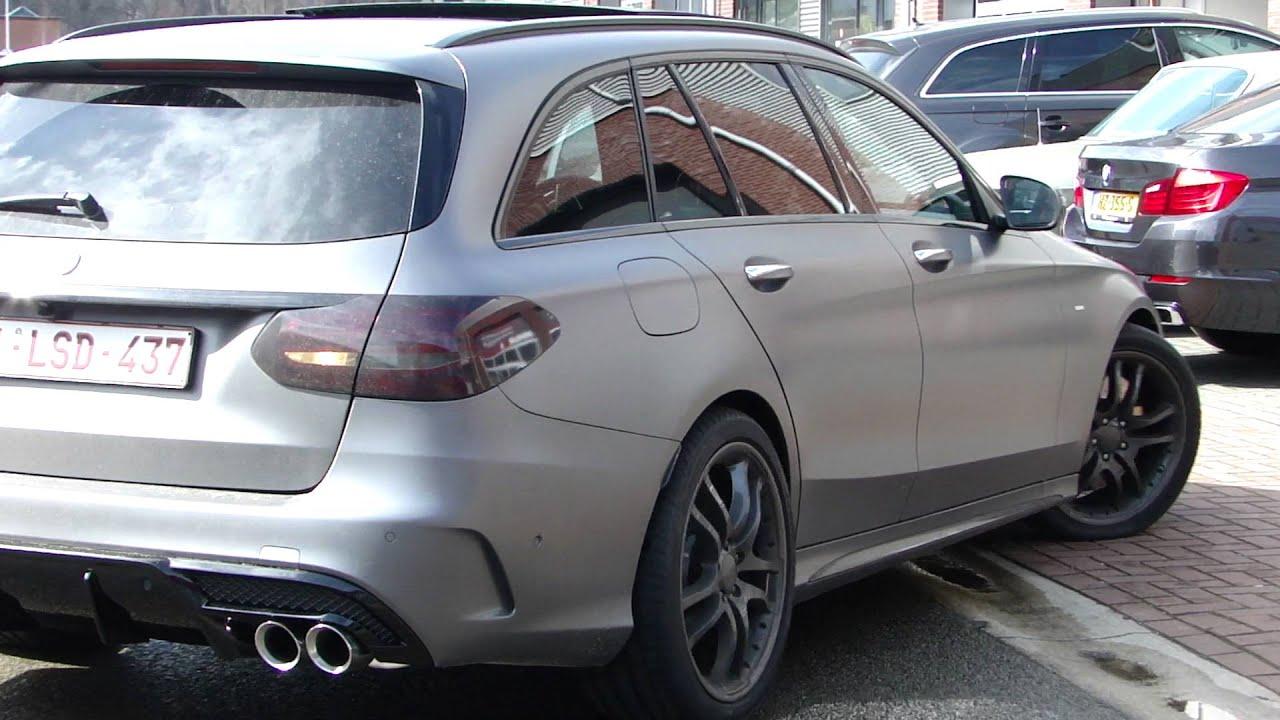 Mercedes C400 Bi Turbo V6 Exhaust Sound Uitlaat Sportuitlaat By Www