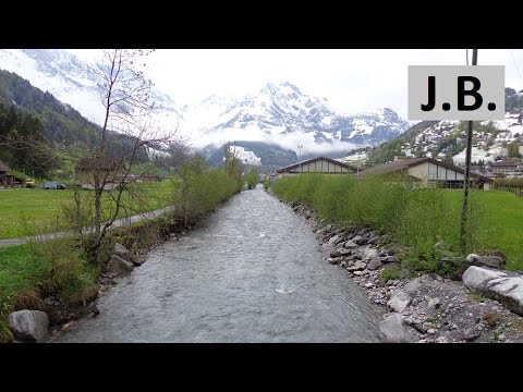 Walking in spring Engelberg, SWITZERLAND