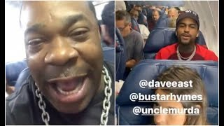 Busta Rhymes Cant Believe Dave East Tony Yayo and Uncle Murda On His Delta Flight
