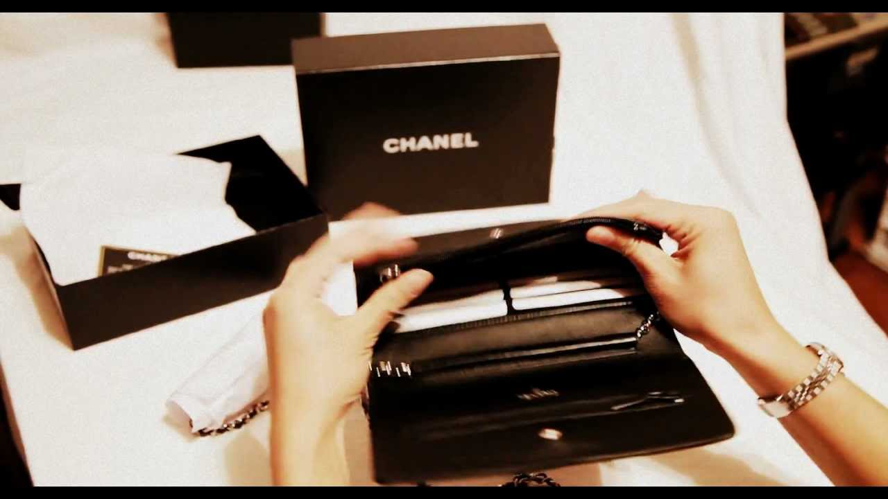 67b2198e452a Chanel WOC Black Caviar - YouTube