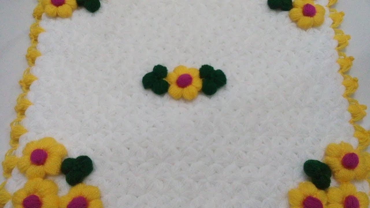 Puf Çiçekli Renkli Lif Modeli