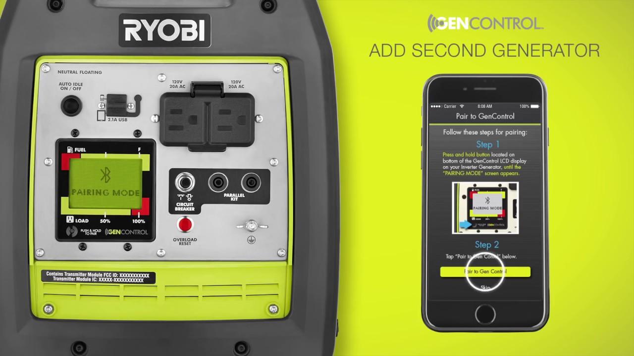 2300 STARTING WATT BLUETOOTH INVERTER GENERATOR | RYOBI Tools