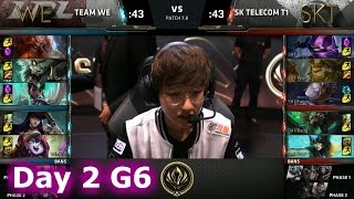 Team WE vs SK Telecom T1 | Day 2 LoL MSI 2017 Group Stage | WE vs SKT Mid Season Invitational