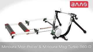 Видео-обзор велотренажеров Minoura MoZ-Roller и Minoura Mag Turbo B60-D
