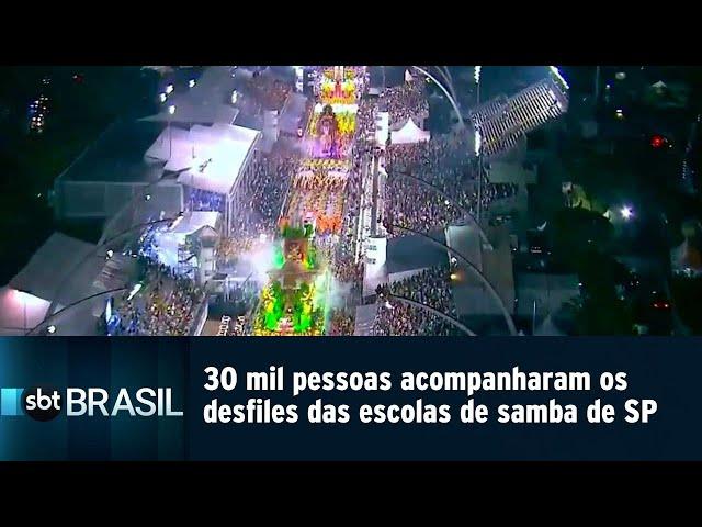 30 mil pessoas acompanharam os desfiles das escolas de samba de SP | SBT Brasil (02/03/19)