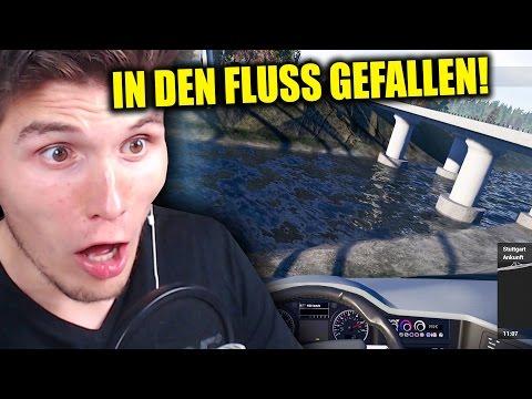 HILFE, WIR SIND IN DEN FLUSS GEFALLEN! ✪ FERNBUS SIMULATOR mit LENKRAD