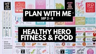 Planner life: healthy hero plan with me sep 2 - 8 (fitness & food stickers)