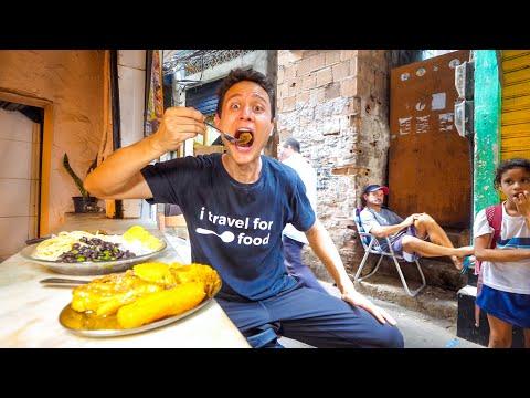 Inside FAVELAS of Rio de Janeiro - BRAZILIAN FOOD TOUR + National Dish of Brazil!