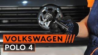Kuinka vaihtaa raidetangon pää VW POLO 4 merkkiseen autoon [OHJEVIDEO AUTODOC]