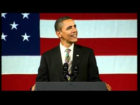 President Barack Obama sings Al Green, Let's Stay Together at Apollo Theatre, New York