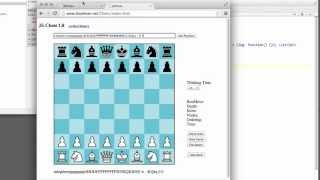 Programming A Chess Engine In Pure Javascript Part 52 - Bulding the (simple) GUI