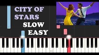 La La Land - City Of Stars (SLOW EASY PIANO TUTORIAL)