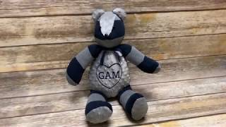 How to Sew an Embroidered Memory Bear