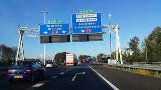 Dashcam Beelden Utrecht: A12 Knooppunt Lunetten  ----»Knooppunt Oudenrijn ----»Afrit De Meern.