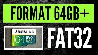 How to Format a 64GB+ Micro SDXC Card in FAT32 for Dashcam use! | 4K!