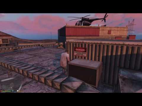 Часть космического корабля под мостом в GTA 5