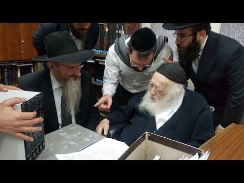 Rabbi Berel Lazar Visits Rav Chaim Kanievsky