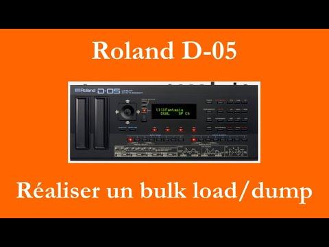 Roland D-05 : importer/exporter des patches (bulk load/bulk dump)