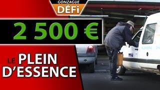 defi vendre un plein d'essence a 2500 euros