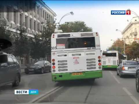 Водители двух автобусов устроили гонку в Ростове на Большой Садовой