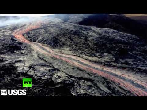 Hawaii's Kilauea volcano erupts sending lava flows from one of its cones