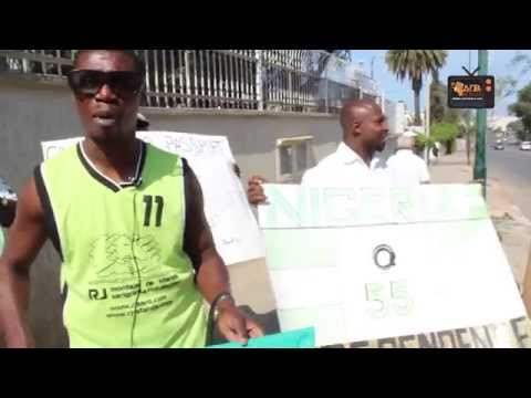 Protestation à l'ambassade du NIGERIA au MAROC