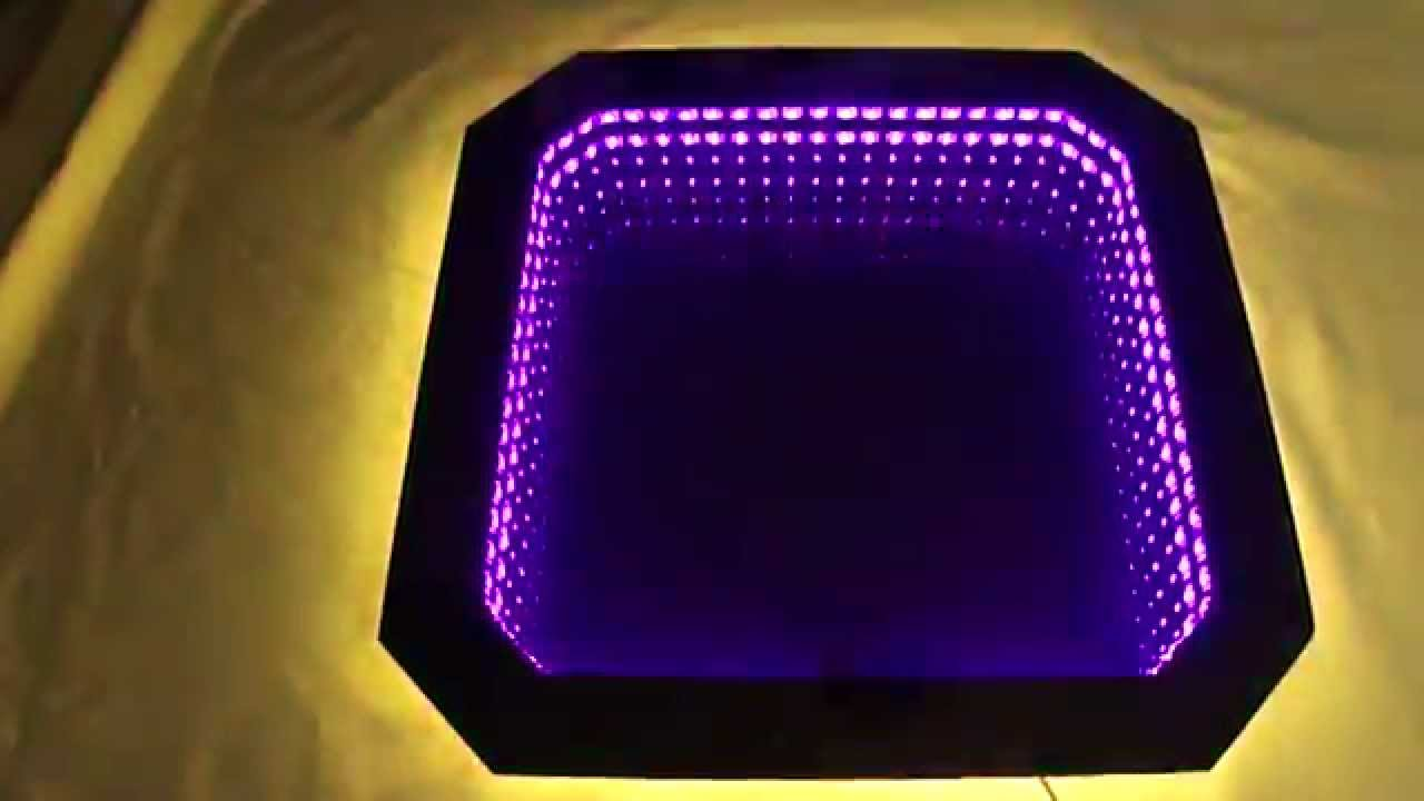 infinity mirror unendlicher spiegel led rgb youtube. Black Bedroom Furniture Sets. Home Design Ideas