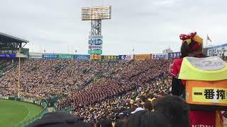 甲子園で開催された、日本生命セ・パ交流戦阪神vsロッテ、5回表の模様で...