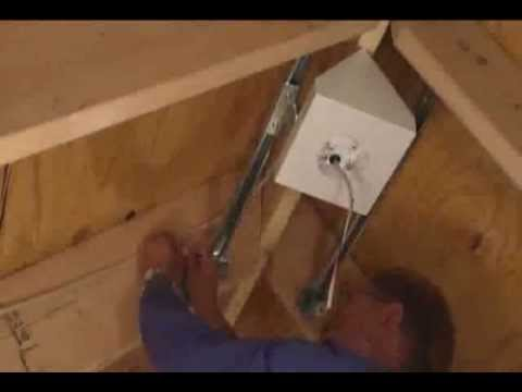 Fan and fixture box for cathedral ceilings youtube aloadofball Image collections