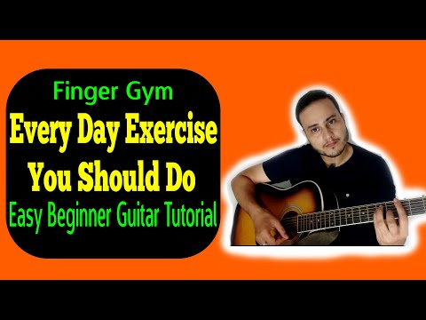Every Day Exercise You Should Do- Finger Gym- Easy Beginner Guitar Tutorial VGuitarLearning | Lesson thumbnail