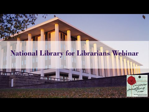 National Library For Librarians Webinar - 2020