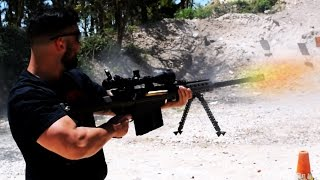 """SPRAYING A """"Call of Duty"""" BARRETT .50 CAL SNIPER (DONT Try This At Home)"""