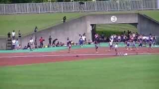 2013静岡中部中学新人共通女子4×100R予選2組