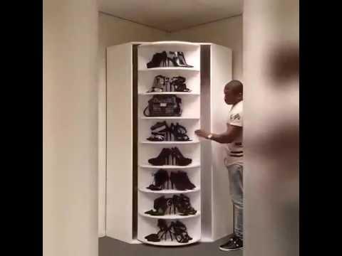 Дизайнерский шкаф для обуви #shoebox - YouTube