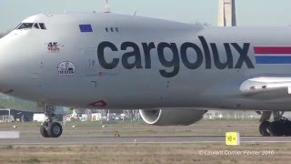 "Cargolux Boeing 747-8R7F LX-VCL Joe Sutter "" Father of the Boeing 747 ""  (video 4k)"