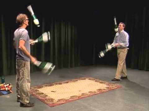 Mark and Russ Demonstrate Juggling -- How to Pass ...