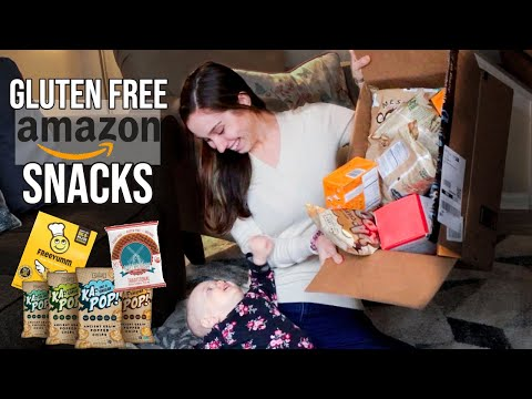 Trying GLUTEN FREE Snacks from Amazon with my 1 Year Old