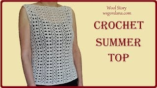 Crochet Easy Summer Top (Lace Pattern) - Heklana cipkana bluza)
