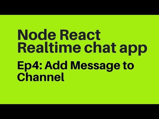 Ep4: Nodejs ReactJs Messenger Chat App