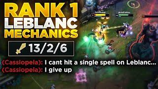 This is what the RANK 1 Leblanc mechanics look like