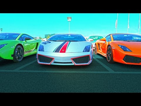 Lamborghini sport cars in Germany 4K Diablo, LP570, 600, 610, 650. Motorworld Stuttgart. Ламборгини.